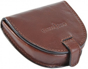 Gianni Conti Fine Italian Brown Leather Coin Tray Purse GIFT BOXED 907086