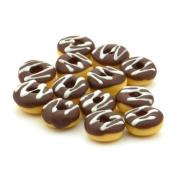 7 x MyTinyWorld Dolls House Miniature Chocolate And White Iced Donuts