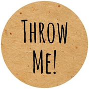 70 Throw Me Confetti labels for bags or pouches