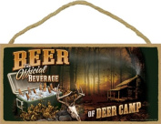 Beer The Official Beverage of Deer Camp 13cm x 25cm Wood Sign Plaque