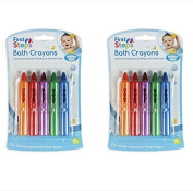Baby Bath Crayons Pack of 10 for Fun in Bath - Non Toxic Bath Toys First Steps