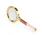 G & M 5X Times Hand Holding Magnifying Glass Elderly Reading Children Student Reading Book Reading Newspaper 80mm Reading Magnifier