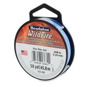 Beadalon Wildfire, .20cm , Blue, 50 Yd Thermally Bonded Thread