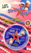 Pepperell Braiding Stretch Magic Jewellery Cord 1Mm 15 Metre Spool Pink