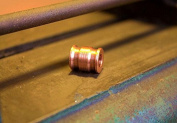 Handmade Red Brass EDC Parachute Cord Knife Tool Lanyard Bead pendant One Piece