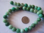 Beads, Genuine Gemstone Chrysophrase 10mm Round - 8pcs