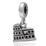 Roman Colosseum Charm 925 Sterling Silver Travel Charm Building Charm for Pandora Bracelet