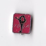 Red Yoga Floating Charm