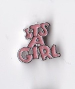 Its a Girl Floating Charm