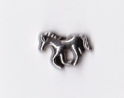 Silver Horse Floating Charm