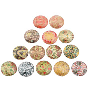 Dophee 10Pcs 20mm Glass Cabochon Mixed Round Photo Cameo Cabochon Setting Supplies for Jewellery Handmade Accessories