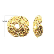 18K Gold Overlay Bead Cap CG-145-11.5MM