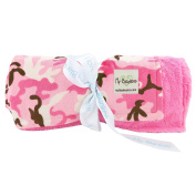 My Blankee Camouflage with Luxe Back Throw Blanket, Hot Pink, 130cm x 150cm
