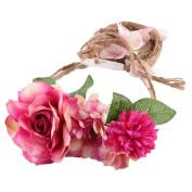 Flower Hairband ,OVERMAL Women Weave Long Handmade Crown Wedding Wreath Bridal Headdress
