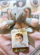 Blankets & Beyond 2 Pc. Set of Grey Elephant and Blanket