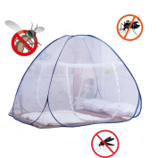 DmsBanga Extra Edition Summer Camping New Most Popular Mosquito Net for Bed Pop Up Nursery Guard Tent Folding Bottom Moustiquaire Canopy Zipper Baby Toddlers Kids Adult Travel Outdoor