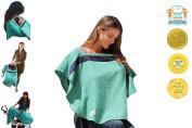 Organic Multipurpose Nursing Cover - Fiji Navy/Emerald