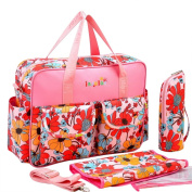 Mummy Multifunction Baby Nappy Backpack Travel Bag Nappy Changing Tote Shoulder,Sunny Bloon