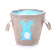 Easter Egg Basket for kids Bunny Burlap Bag to Carry Eggs Candy and Gifts