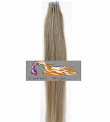 CarolsWigs® Best Quality 41cm Lighter Ash Blonde Mix Lightest Blonde 18/613 Tape-In 100% Premier Remy Human Hair Extensions 5A* UK Seller