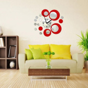 Wall Stickers,GOODCULLER Modern Circles Acrylic Mirror Style Wall Clock Removable Decal Art Sticker Decor Wall Stickers Home Decor