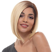 SiYi Short Bob Wig Blonde Brown Root Ombre Straight Synthetic Wigs Heat Resistant Full Cosplay Wig for Women