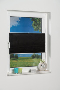 """K-Home 872765hyphen4""""Palma"""" Clip-On Pleated Blind Sun-Protection, anthracite, black, 70 x 130"""