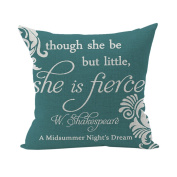 Nunubee Words Printed Soft Pillowcase Cotton Cushion Cover Square Decorative Home Accessories Style 3
