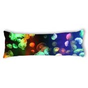 Ailovyo Fantastic Jellyfish Silky Soft Satin Pregnancy Body Pillow Cover Pillowcase, 50cm x 140cm