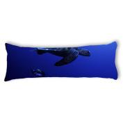 Ailovyo Trutle Silky Soft Satin Pregnancy Body Pillow Cover Pillowcase, 50cm x 140cm