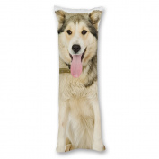 Ailovyo Dog Silky Soft Satin Pregnancy Body Pillow Cover Pillowcase, 50cm x 140cm