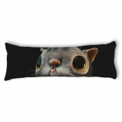 Ailovyo Mouse Silky Soft Satin Pregnancy Body Pillow Cover Pillowcase, 50cm x 140cm