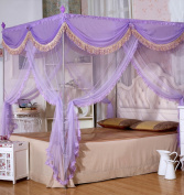 Nattey Luxury 4 Corners Princess Bedding Canopy Mosquito Netting Canopies Queen California King Size