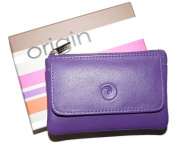Mala Leather ORIGIN Collection Leather Purse with RFID Protection PLUM OR PURPLE 4110 / 5