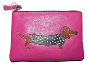 Mala Leather sausage dog coin purse soft leather 4133 / 65 pink or black