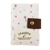BeautyLife Elegant Country Style Canvas Credit Business ID Card Bag Pocket Wallet Holder Coin Pouch 20 slots