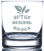 After School Snack Gift For Teacher 370ml laser etched Scotch Whiskey Bourbon Old Fashion Rocks Glass