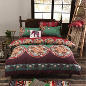 National Style Bedding 3D Four-Piece Skin-Friendly Cotton Activity Printing And Dyeing Does Not Fade Can Not Afford To Thicken The Ball (For 1.2M-2.2M Bed) , 5 , 220*240
