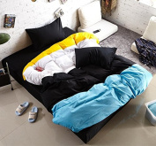 Simple Style Bedding 3D Four-Piece Cotton Fashion Plain Active Double Students (For 1.5M-2M Bed) , 7 , 220*240