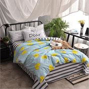 Simple Style Bedding 3D Four-Piece Cotton Solid Colour Shuangpin AB Version Of The Students (For 1.2M-1.8M Bed) , 6 , 200*230