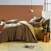 Students simple solid colour cotton double four set simple plain Hat AB hotels bed sheets , 7 , 220*240