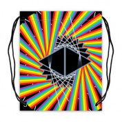 Psychedelic Trippy Colourful Art Basketball Drawstring Backpack Bags Twin-sided Print