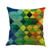 Bodhi2000 Square Geometry Painting Linen Cushion Cover Throw Pillow Case Sofa Home Decor