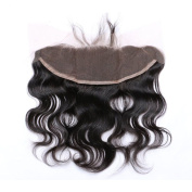 YOKWI Virgin Remy Lace Frontal Closure Body Wave Free Part 13x 4 Bleach Knot Natural Colour 1B#
