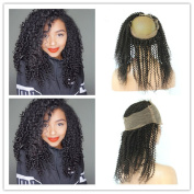 Tony Beauty Hair Kinky Curly Peruvian Hair 360 Lace Frontal Closure Pre Plucked Free Middle 3 Way Part Full Frontal Curly 360 Adjustable Band Lace Closure 20cm - 60cm