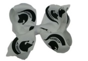 Michigan State Spartans NCAA Two Tone Hair Bow with Barrette