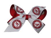 Alabama Crimson Tide NCAA Two Tone Hair Bow with Barrette