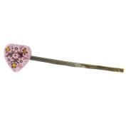 Murano Glass Millefiori Heart Hair Pin