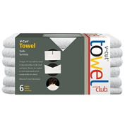 Product Club V-Cut White Towels 6ct