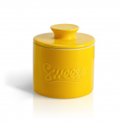 Sweese 3105 Butter Keeper Crock - Porcelain French Butter Dish, Yellow